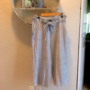 Breezy linen blend pants